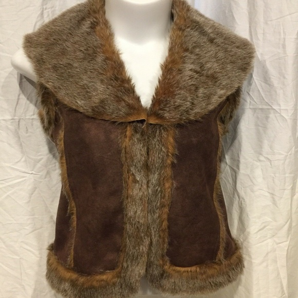 Cejon Jackets & Blazers - Cejon Faux Suede & Fur Vest